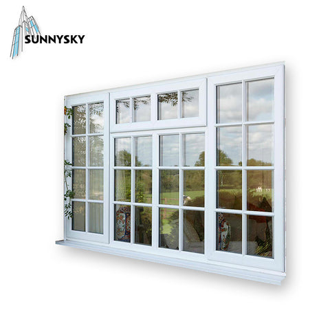 OEM service vinyl sash arched UPVC casement drawing window on China WDMA