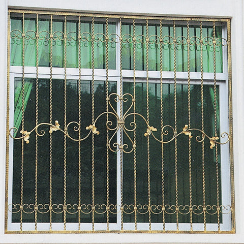 OP-E001 Europe Design Iron Window Grill China Manufacturer Wrought Iron Windows For Window Frame on China WDMA
