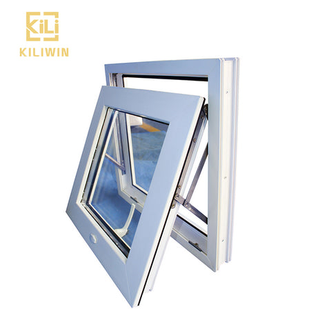 Oem european style aluminium hinged vertical open single hung double glazed small windows awning for bathroom