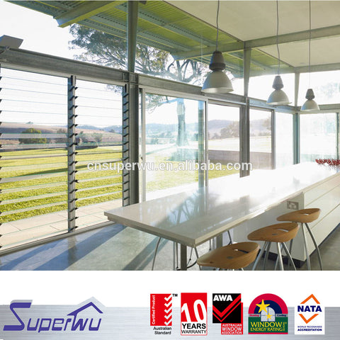 Openable Louvre Windows/Aluminium double glazed Louvre Windows comply with Australian & New Zealand standards on China WDMA