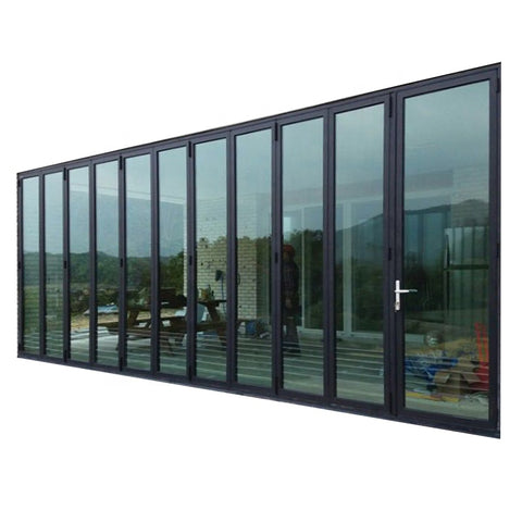 Order from china direct main entrance doors design double glass bi-folding door with low-e coating on China WDMA