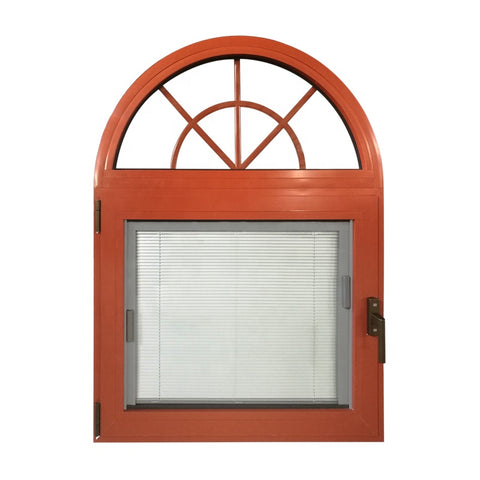 Original factory colored aluminum arched transom window 36 x 36 casement windows with built-in shutter design on China WDMA