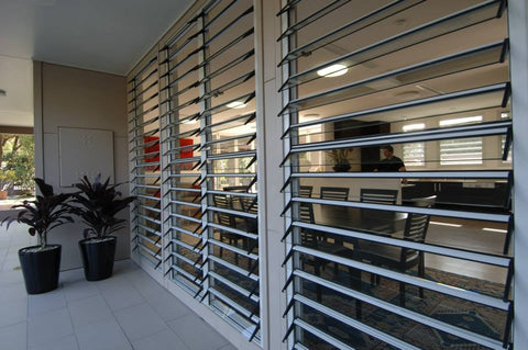 Outdoor Factory Price Aluminum High quality durable exterior aluminum hurricane shutters on China WDMA