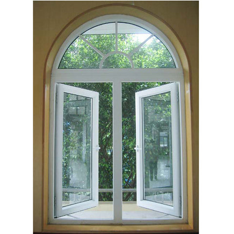 PRIMA low cost curved white aluminum alloy frame glass window on China WDMA