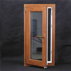 PVC Brown Tilt and Turn Window and Fixed Window, Vinyl Doors and Windows on China WDMA