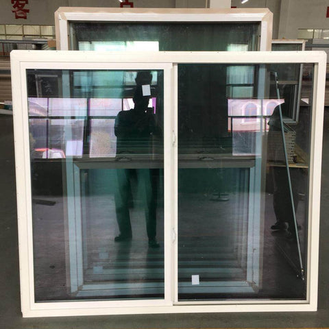 PVC Horizontal Sliding Windows,Impact Hurricane Proof Plastic Slider double glazing Window on China WDMA