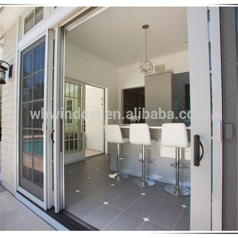 PVC Hurricane impact resistant glass sliding doors price on China WDMA