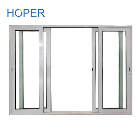 PVC balcony double pane slide glass door for patio on China WDMA