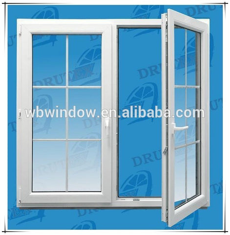 PVC double glass window with inside blind,double glazed windows with blinds on China WDMA