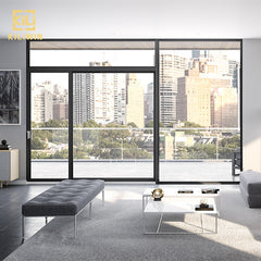 Panoramic floor to ceiling windows wholesale patio french transom design aluminium sliding double glass doors on China WDMA