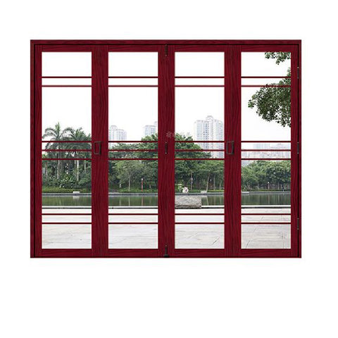 Partical Glass patio exterior bifold doors double glazing outdoor folding door aluminum bi folding door on China WDMA
