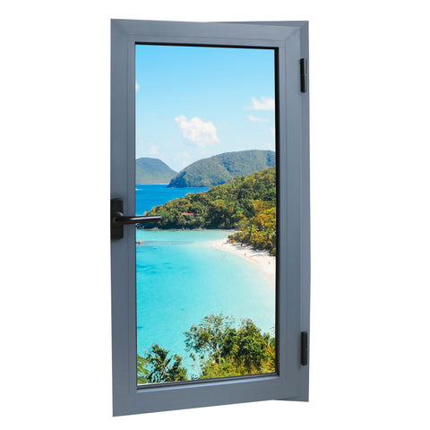 Philippines Price French Aluminum Casement Double Tempered Glass Window on China WDMA