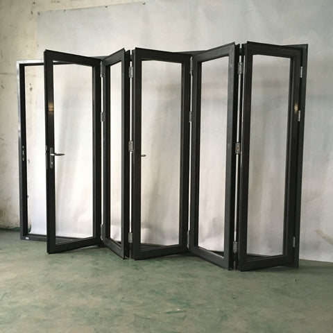 Philippines aluminum window and door Aluminium bifold door with integral blinds on China WDMA