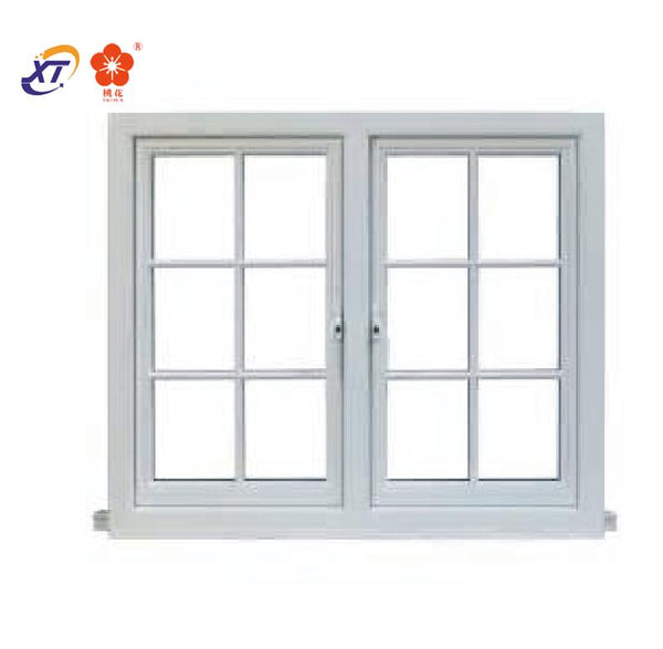 Philippines price Double tempered glass french aluminum casement window on China WDMA