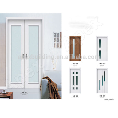 Plastic access door WPC door wood plastic composite door waterproof & moisture proof, bathroom door / kitchen door / room door on China WDMA