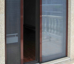 Pleated Mesh Folding Retractable Mosquito Screen Door /retractable pleated insect screen for windows and door on China WDMA