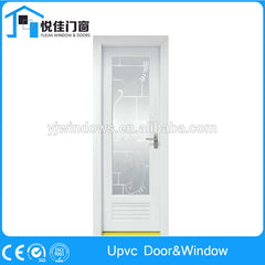 Popular design white french doors upvc casement door commercial price on China WDMA