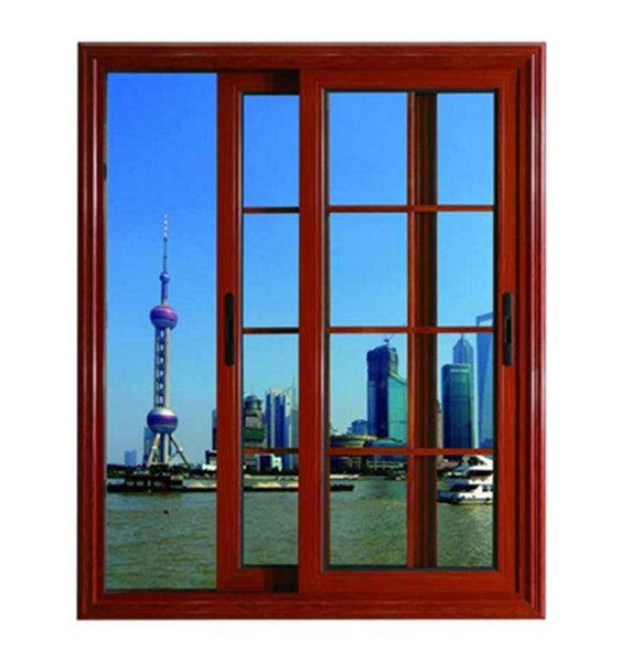 Powder Coated Finished Aluminum Reflective Glass Sliding Windows With Stainless Steel Fly Screen on China WDMA