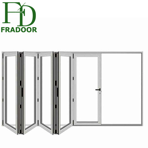 Powder Coated Grey Aluminium Bifold Balcony French Doors Manufacture Of Doors in Turkey House on China WDMA