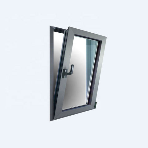 Powder coated invisible colorful glass extrusion aluminum awning window on China WDMA