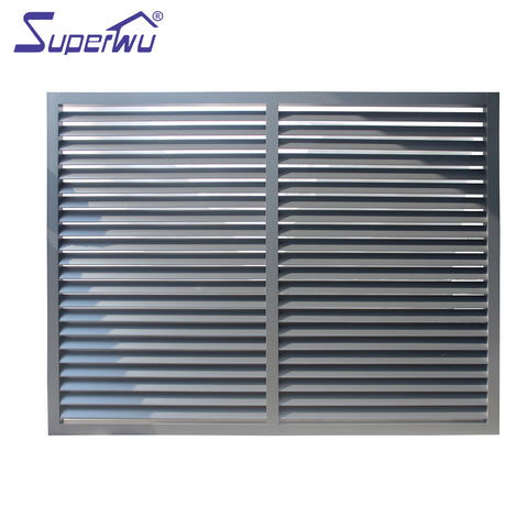Powder coating aluminum louver windows with tempered glass blades on China WDMA