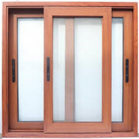 Powder coating brown / wood color aluminum windows lift sliding windows with German hardware on China WDMA
