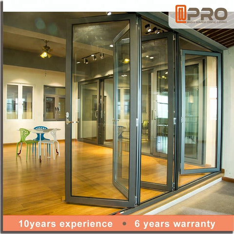 Price Sliding Soundproof Luxury Exterior Patio Lowes Glass Accordion Aluminium Bi-fold Bi Fold Doors Bifold Folding Door on China WDMA