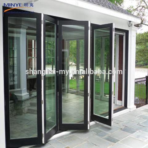 Price Sliding Soundproof Luxury Exterior Patio Lowes Glass Accordion Aluminium Bi-fold Bi Fold Doors Bifold on China WDMA