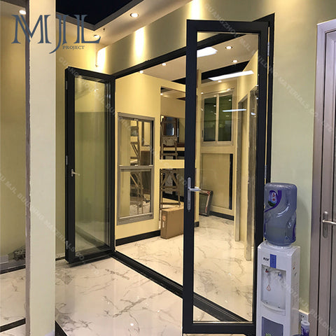 Professional Tempered Glass Interior Aluminum Frame Glass Door and Window for Office, Used Aluminum Commercial Door Folding on China WDMA