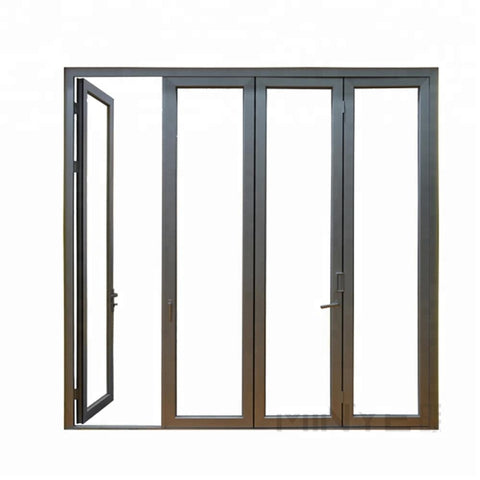 Professional supplier sliding folding glass door exterior foldable doors for home/school/office/villa on China WDMA