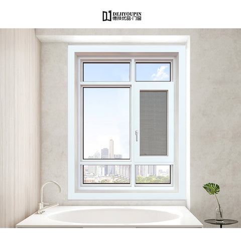 Promotional Foshan Cheap House W122A Laminated glass double glazed Aluminum Swing Window on China WDMA