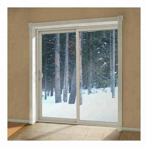 Pvc profile 130 Series 4 panel patio sliding glass door on China WDMA