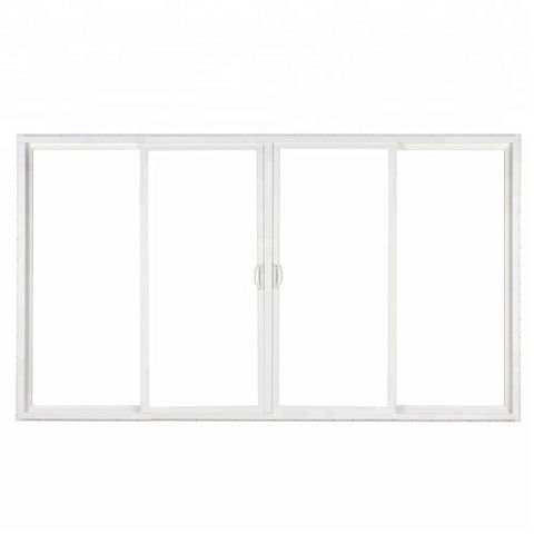 Pvc profile 4 panel patio sliding glass door on China WDMA