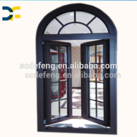 Quality Guaranteed Custom Arch Aluminum Window with Wooden Frame on China WDMA