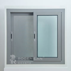 ROGENILAN 100 series double glazed aluminum sliding window with flyscreen