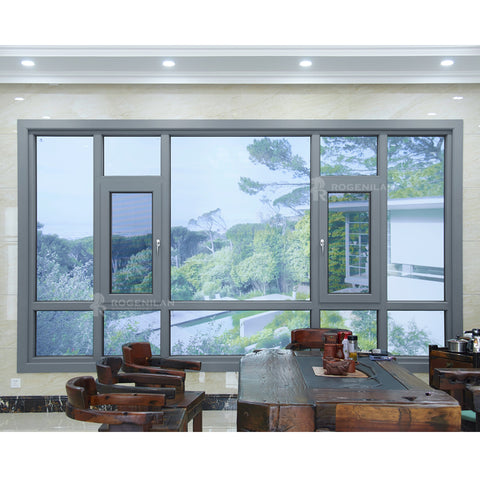 ROGENILAN 140 series aluminium big floor to ceiling windows casement windows on China WDMA