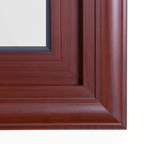 ROGENILAN Double Glazed Philippines Brown Color Aluminium Frame Sliding Window on China WDMA
