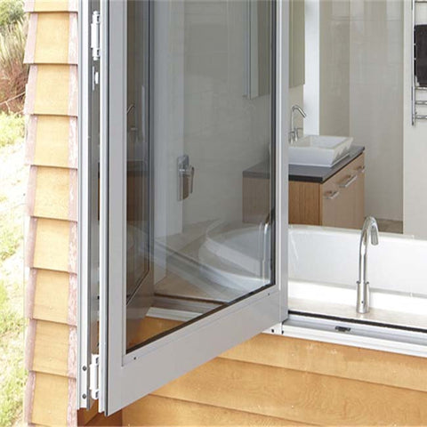 Residential aluminium coutryard sliding bi folding glass window on China WDMA