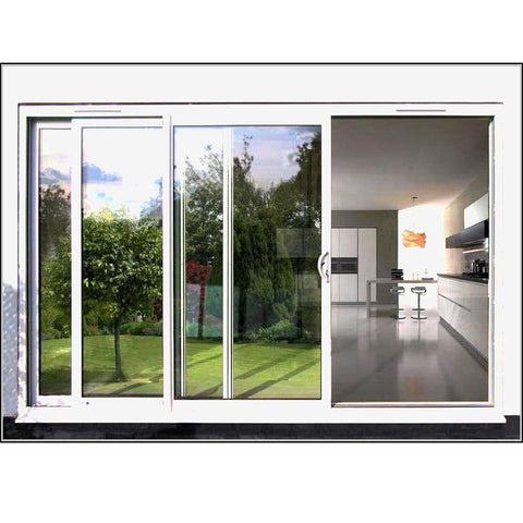 Residential aluminium frame double glazed 3 panel sliding patio glass door price on China WDMA