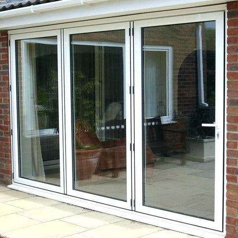 Residential aluminium frame double glazed 3 panel sliding patio door price on China WDMA