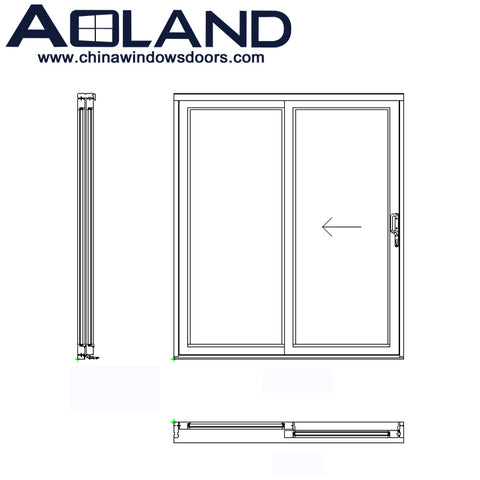 Residential aluminium patio double glazed sliding doors for home for sale on China WDMA