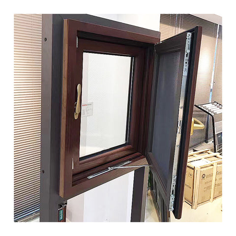 Residential aluminium toughened glass double casement window manufacturers on China WDMA