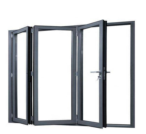 Residential aluminum folding window with black color or customized color on China WDMA