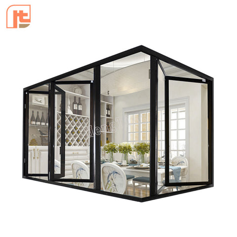 Retail price custom 1.4mm new aluminum window aluminum alloy narrow side folding window on China WDMA