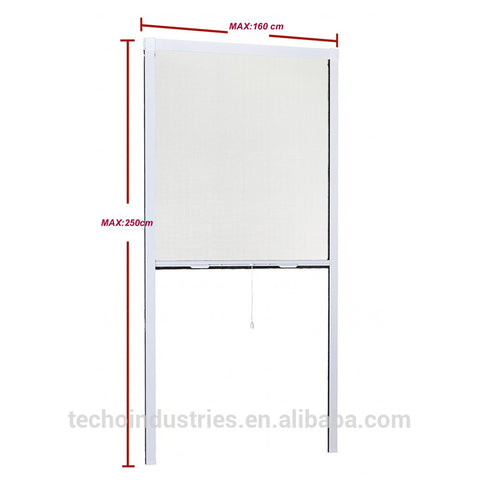 Retractable aluminum window screen , roller shutter retractable screens on China WDMA