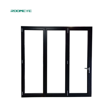 Roomeye hot sale aluminum exterior bi folding glass door on China WDMA