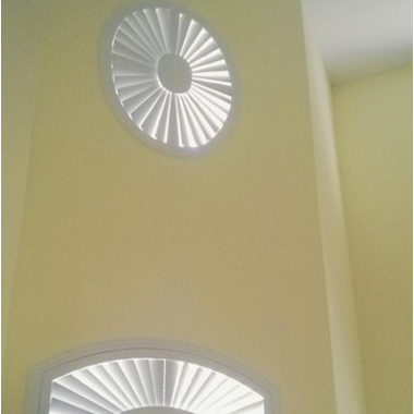 Round Circle Shape 63.5 mm Louver Basswood Window Plantation Shutters on China WDMA