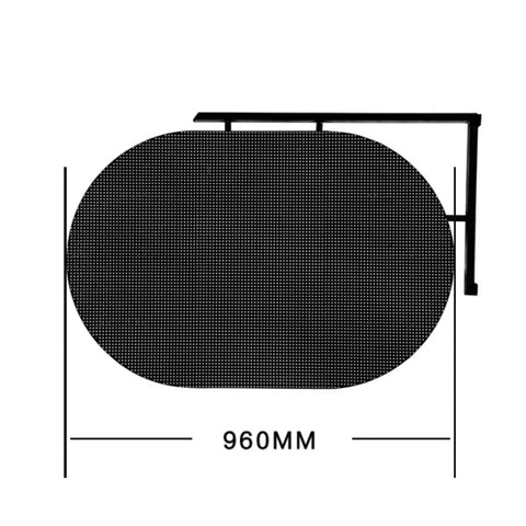 Round double-sided logo panel Custom module Desktop control High gray Refresh 1920hz sign for Cosmetics store door led screen on China WDMA