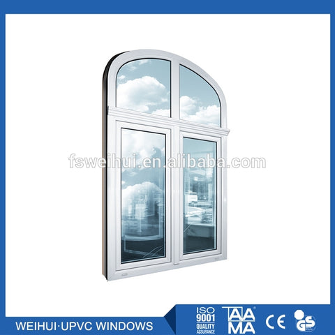 Rubber Glazing Double Arch Grid Decorative Grate Upvc Shanghai Sliding Wheel Handle Glass Jalousie Cheap House Window For Sale on China WDMA