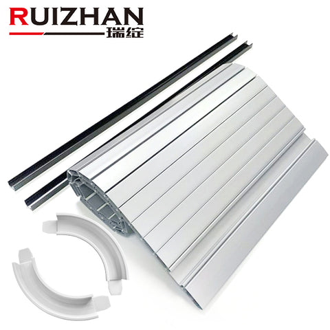 Ruizhan Customized Plastic Extrusion Profiles PVC ABS Clear Cabinet Tambour Rolling Up Shutter Doors For Furniture on China WDMA